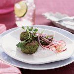 Spring Pea Falafel Dish