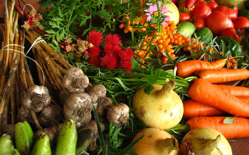 market veggies for soup kitchen