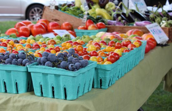 fruits and vegetables from Wright-Locke Farm