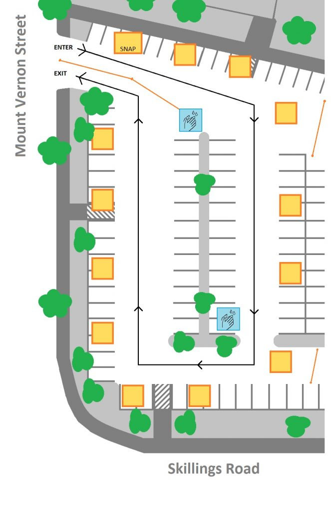Town Hall parking lot layout