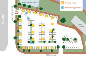layout of the Winchester Farmers Market